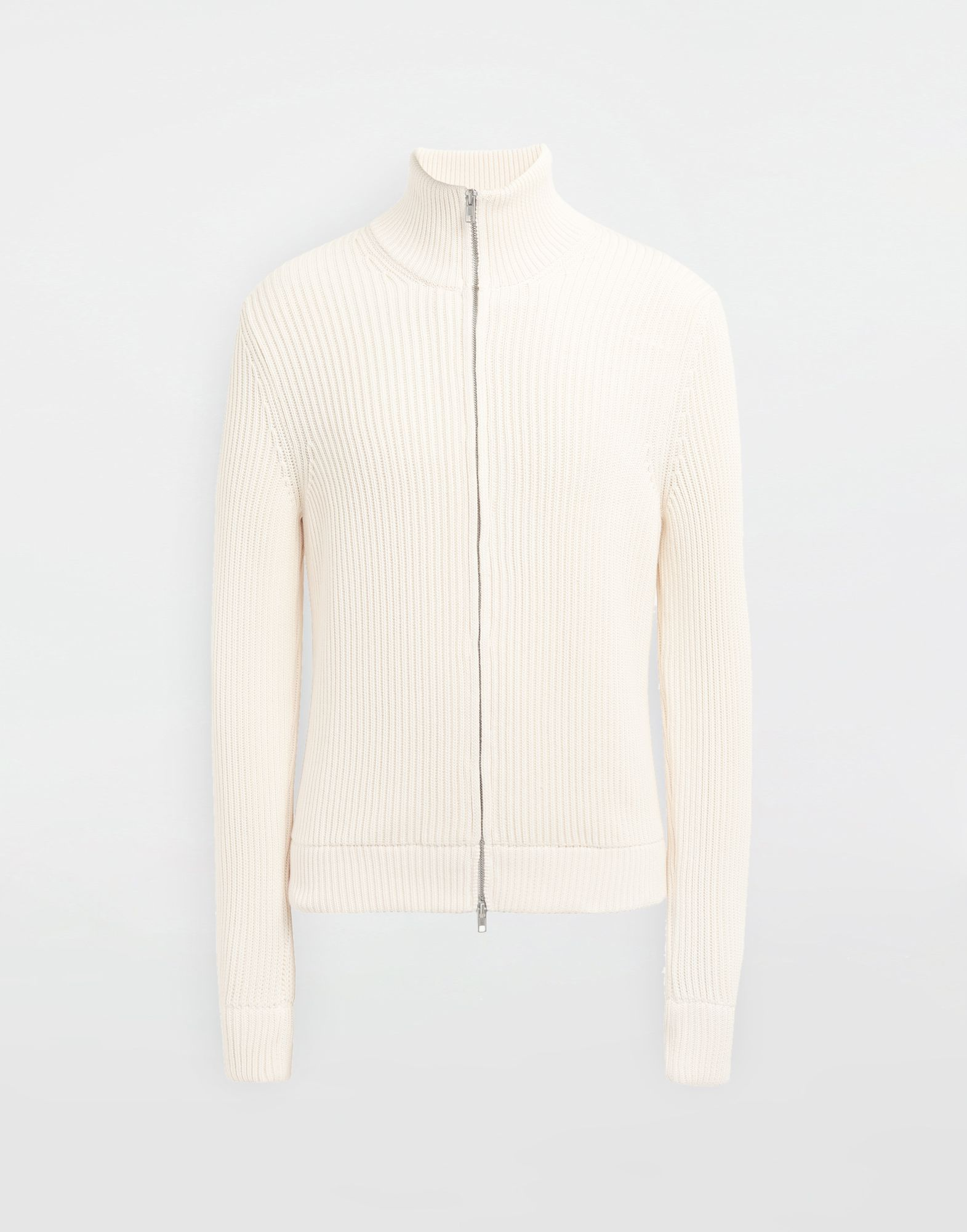 MAISON MARGIELA Zip-up ribbed sweater Cardigan Man f