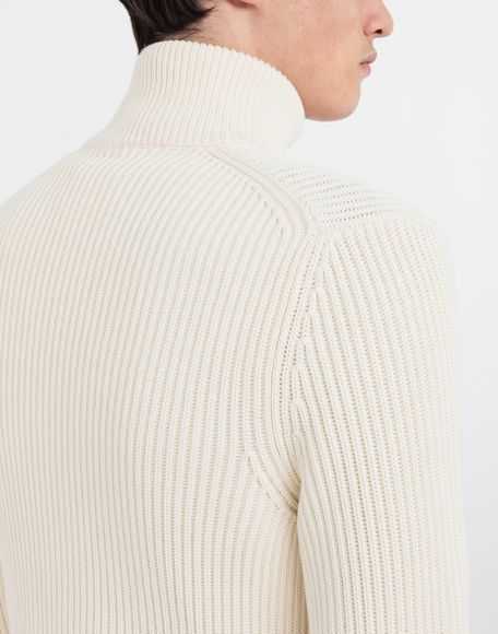 MAISON MARGIELA Zip-up ribbed sweater Cardigan Man a