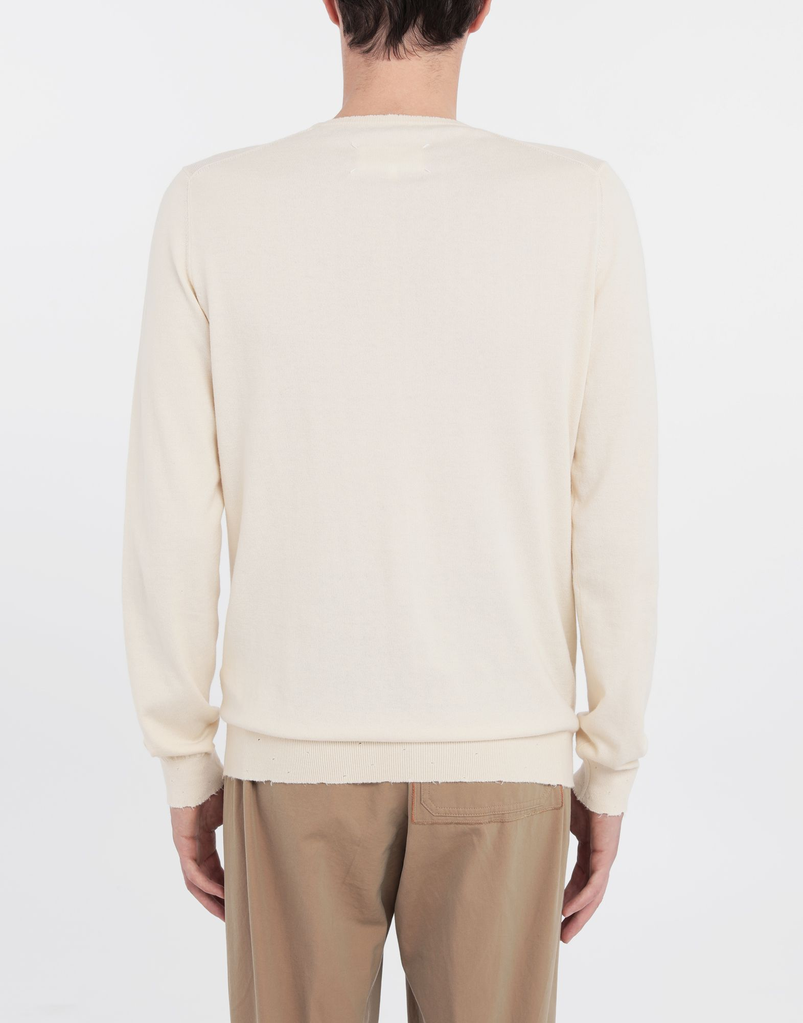 MAISON MARGIELA Destroyed knit pullover Crewneck sweater Man e