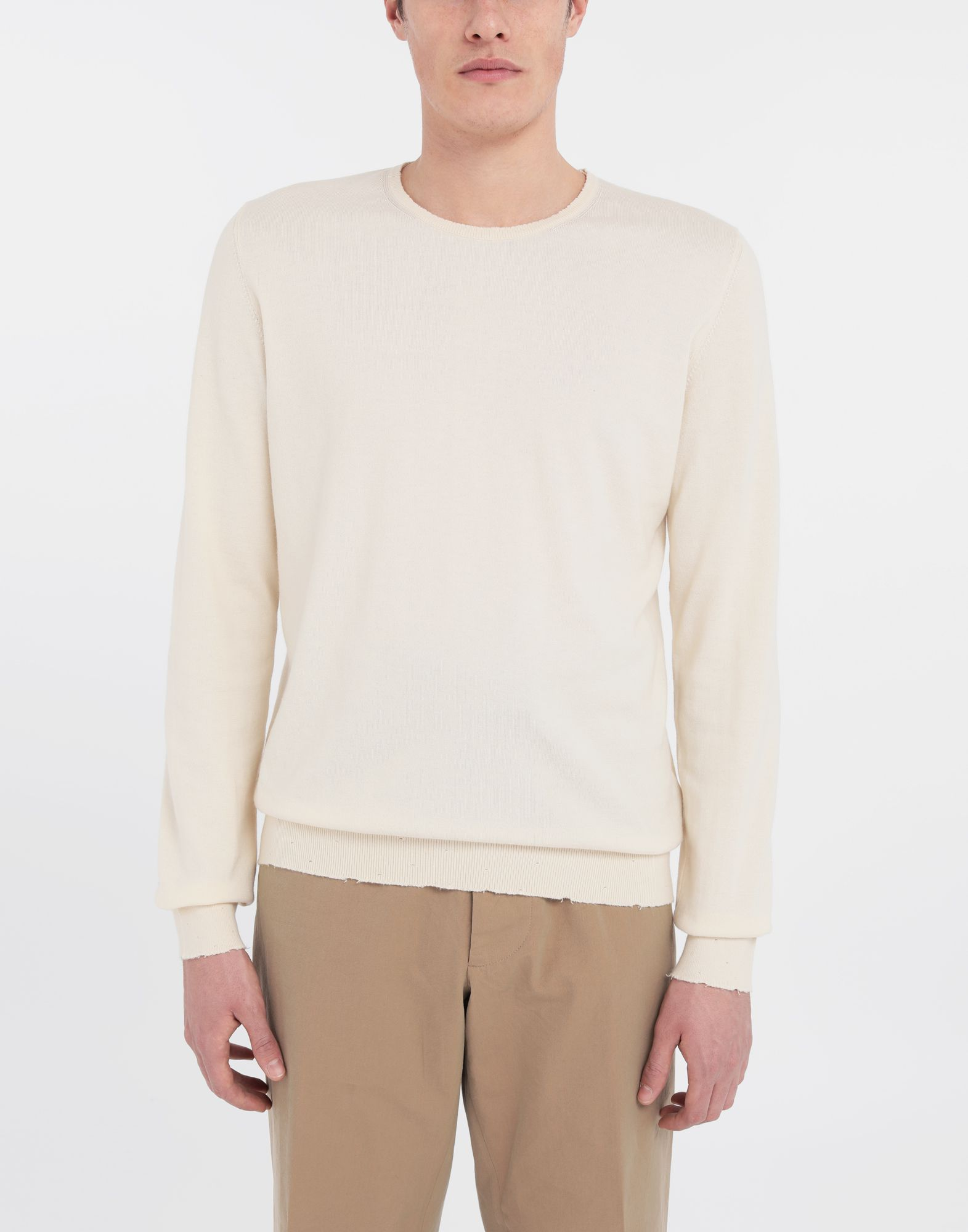 MAISON MARGIELA Destroyed knit pullover Crewneck sweater Man r