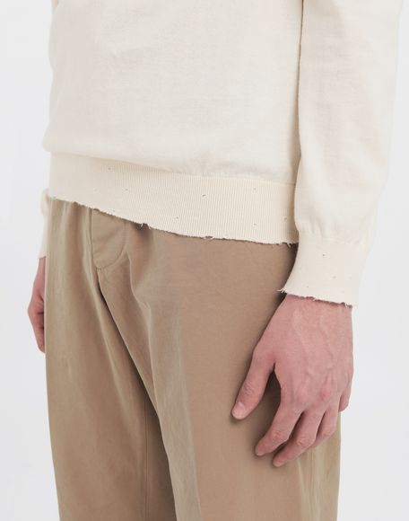 MAISON MARGIELA Destroyed knit pullover Crewneck sweater Man a