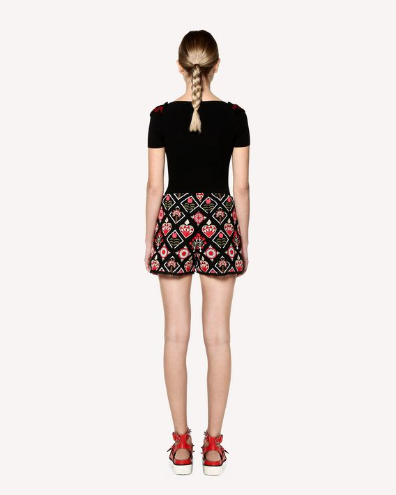 REDValentino Stretch viscose Decorated Terrace jacquard knit top