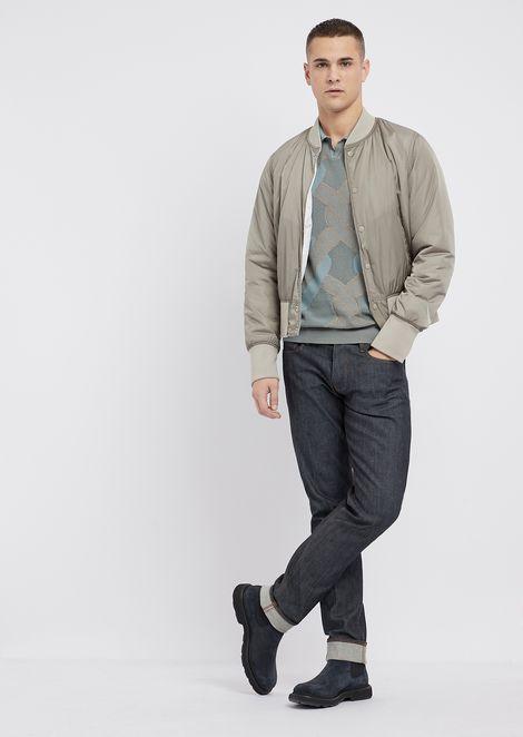 Vanisé punched cotton polo shirt