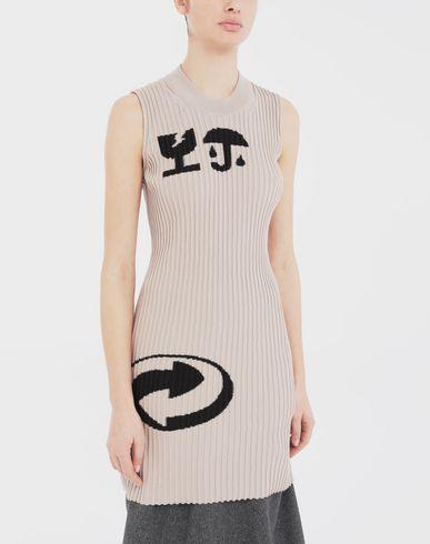 SWEATERS Sleeveless ribs dress in 'Carton'  intarsia