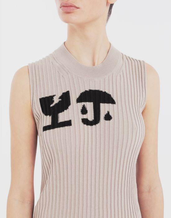 MAISON MARGIELA Cartoon-print knit tunic Sleeveless jumper [*** pickupInStoreShipping_info ***] a
