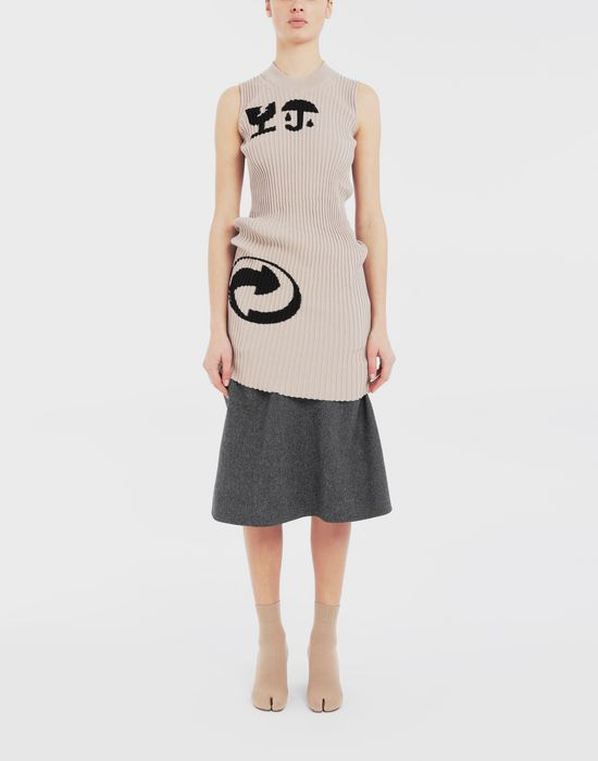 MAISON MARGIELA Cartoon-print knit tunic Sleeveless jumper [*** pickupInStoreShipping_info ***] d