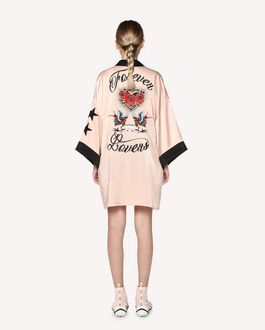 REDValentino Tattoo-embroidered cotton knit bodysuit
