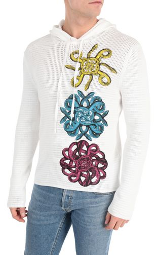 JUST CAVALLI V-neck Man Pullover with surfer embroidery f