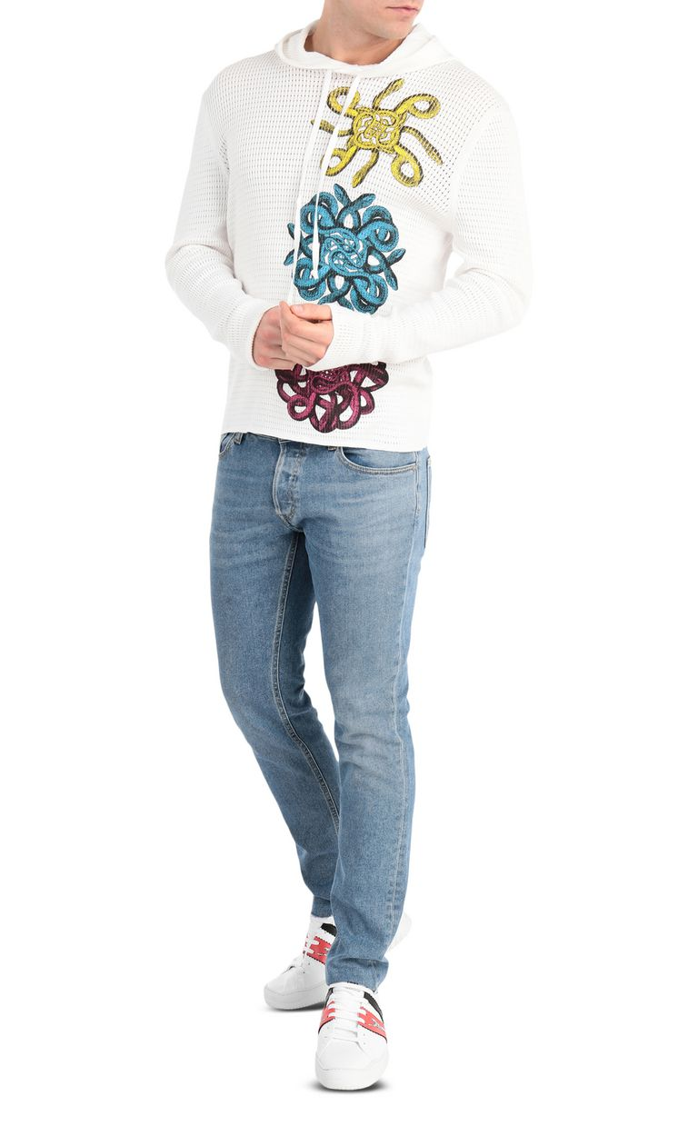 JUST CAVALLI Pullover with snake embroidery Sweater Man d