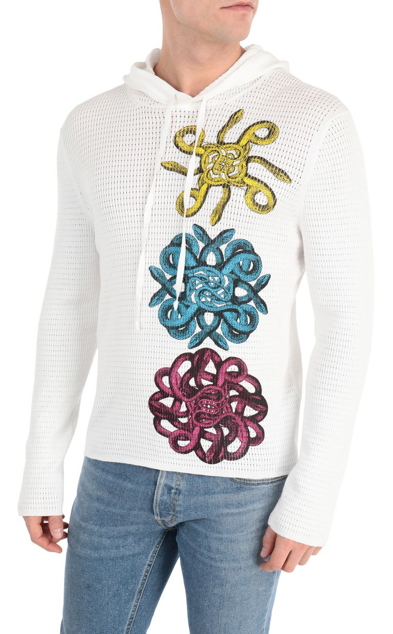 JUST CAVALLI Pullover with snake embroidery Sweater Man f