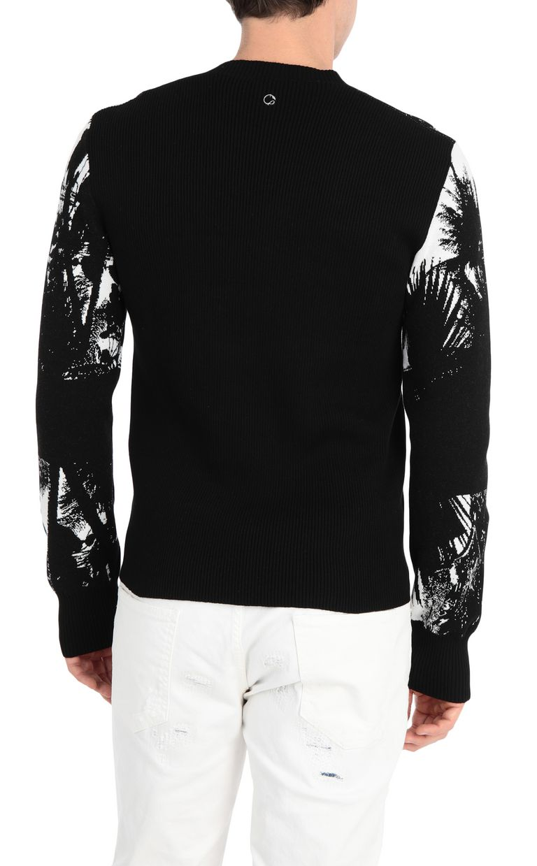 JUST CAVALLI Pullover with surfer embroidery V-neck Man r