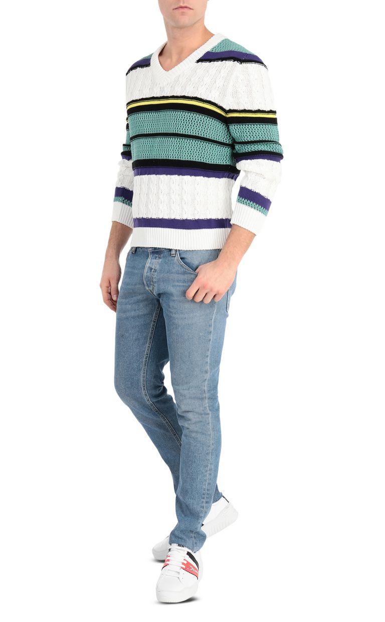 JUST CAVALLI Striped pullover V-neck Man d