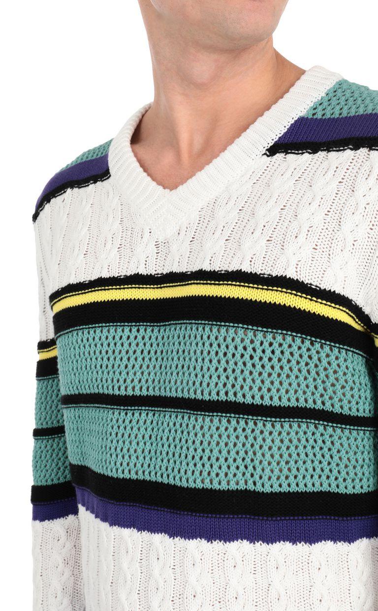 JUST CAVALLI Striped pullover V-neck Man e
