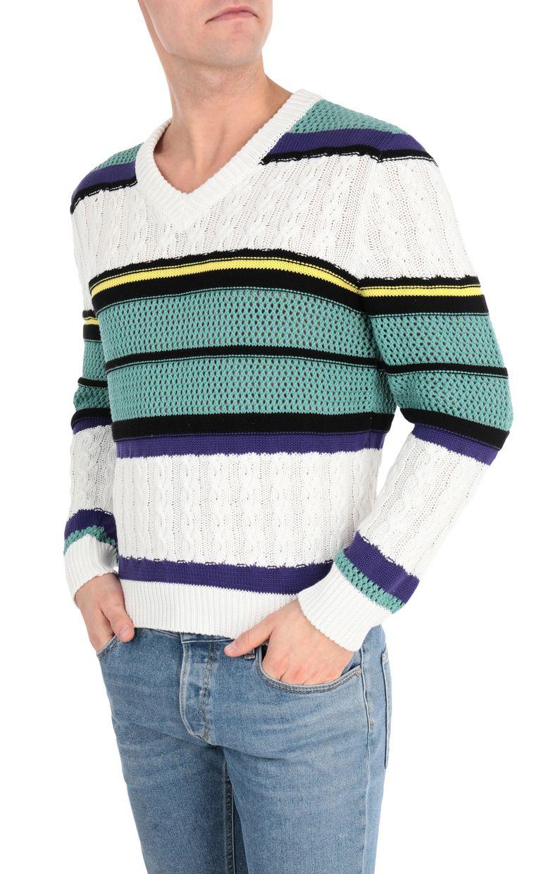 JUST CAVALLI Striped pullover V-neck Man f