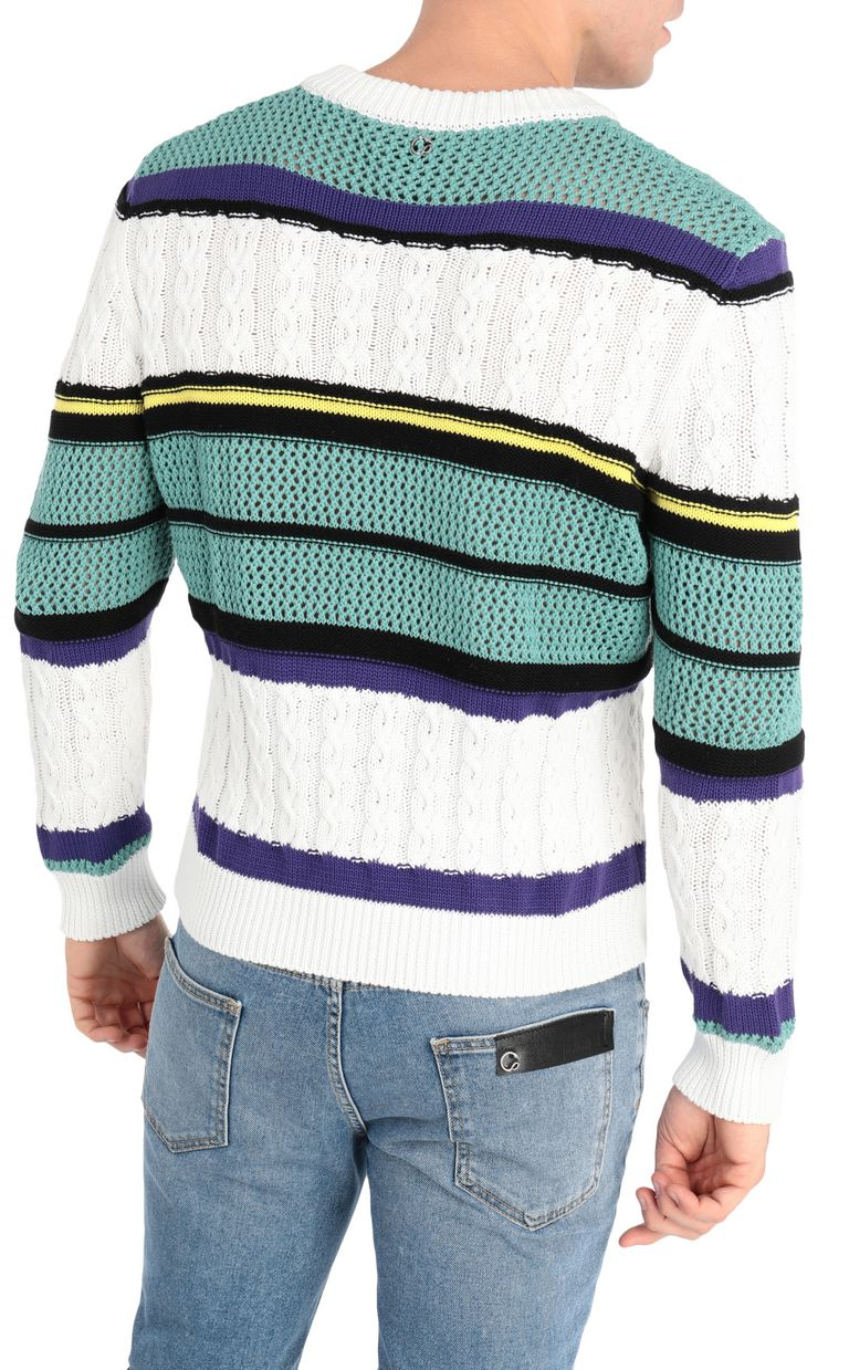 JUST CAVALLI Striped pullover V-neck Man r