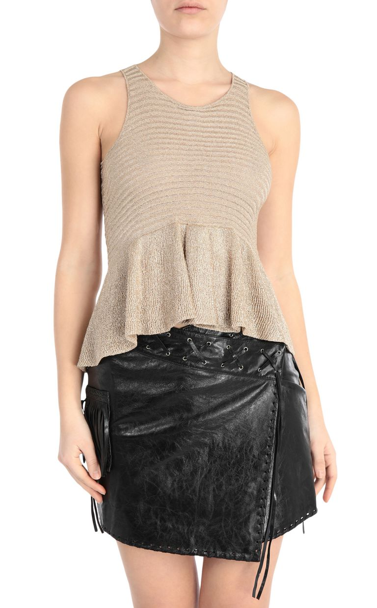JUST CAVALLI Lurex top Sleeveless sweater Woman f