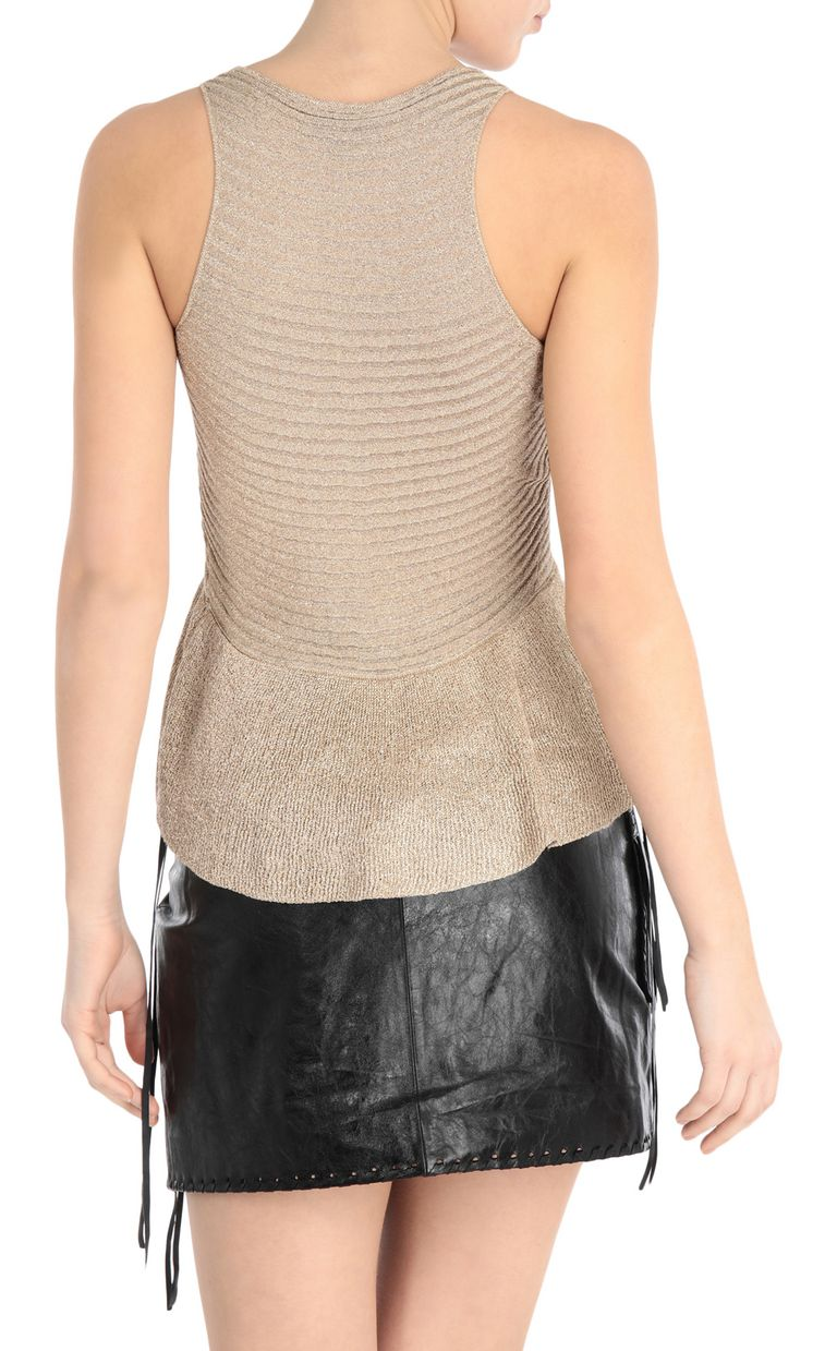 JUST CAVALLI Lurex top Sleeveless sweater Woman r