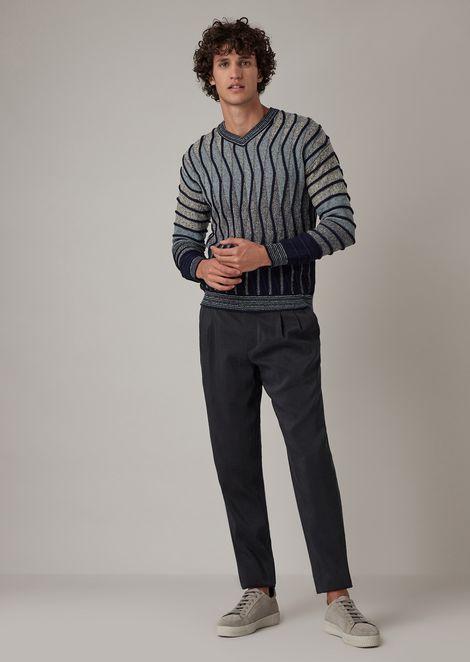 Jersey de punto jersey y revés con pequeños rollos ondulados