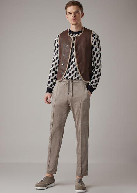 Jersey de cuello redondo en tejido jacquard con motivo trenzado en relieve