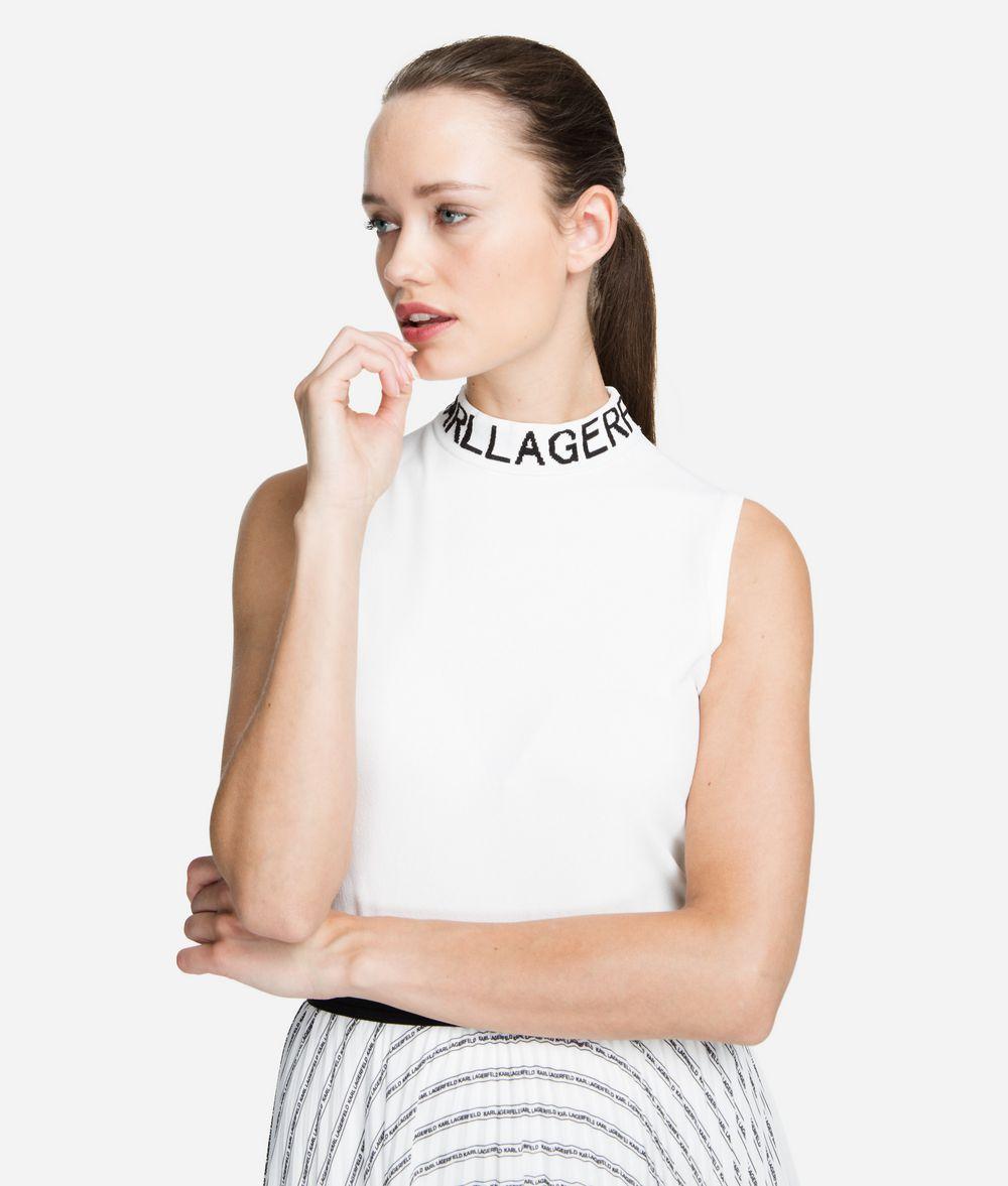KARL LAGERFELD Logo Mock Neck Sweater Sweater Woman f
