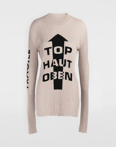 MAISON MARGIELA Ribs jumper in 'Carton' intarsia Long sleeve jumper Woman f
