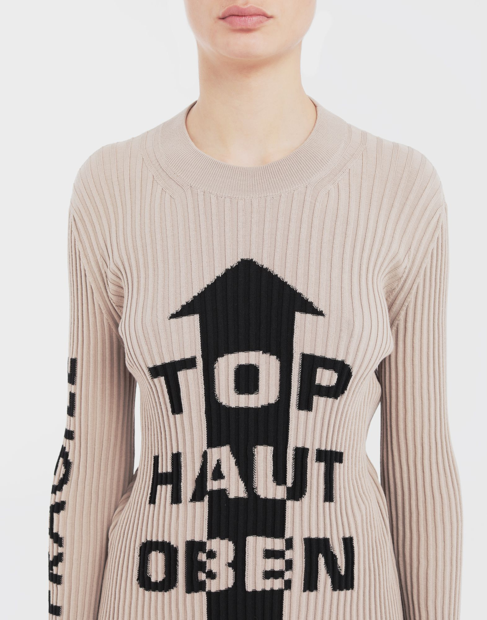 MAISON MARGIELA Ribs jumper in 'Carton' intarsia Long sleeve sweater Woman a
