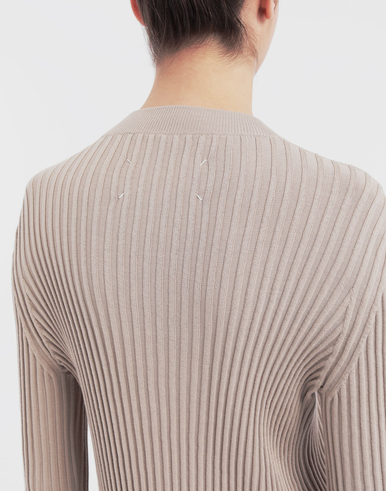 MAISON MARGIELA Ribs jumper in 'Carton' intarsia Long sleeve sweater Woman b
