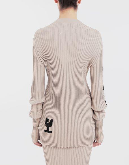 MAISON MARGIELA Ribs jumper in 'Carton' intarsia Long sleeve sweater Woman e