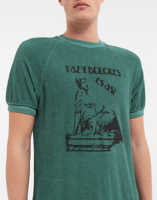 MAISON MARGIELA Graphic printed faded T-shirt Sweatshirt [*** pickupInStoreShippingNotGuaranteed_info ***] a