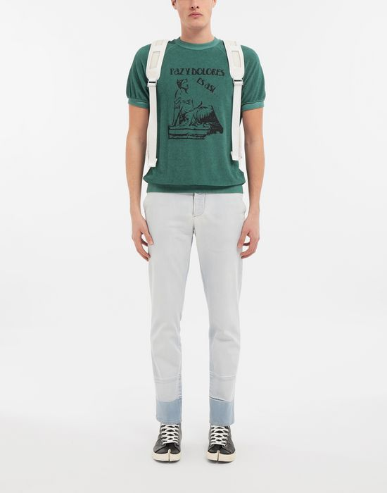 MAISON MARGIELA Graphic printed faded T-shirt Sweatshirt [*** pickupInStoreShippingNotGuaranteed_info ***] d
