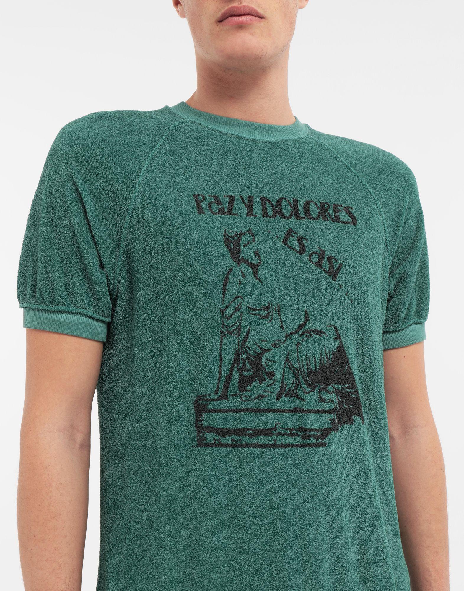 MAISON MARGIELA Graphic printed faded T-shirt Sweatshirt Man a
