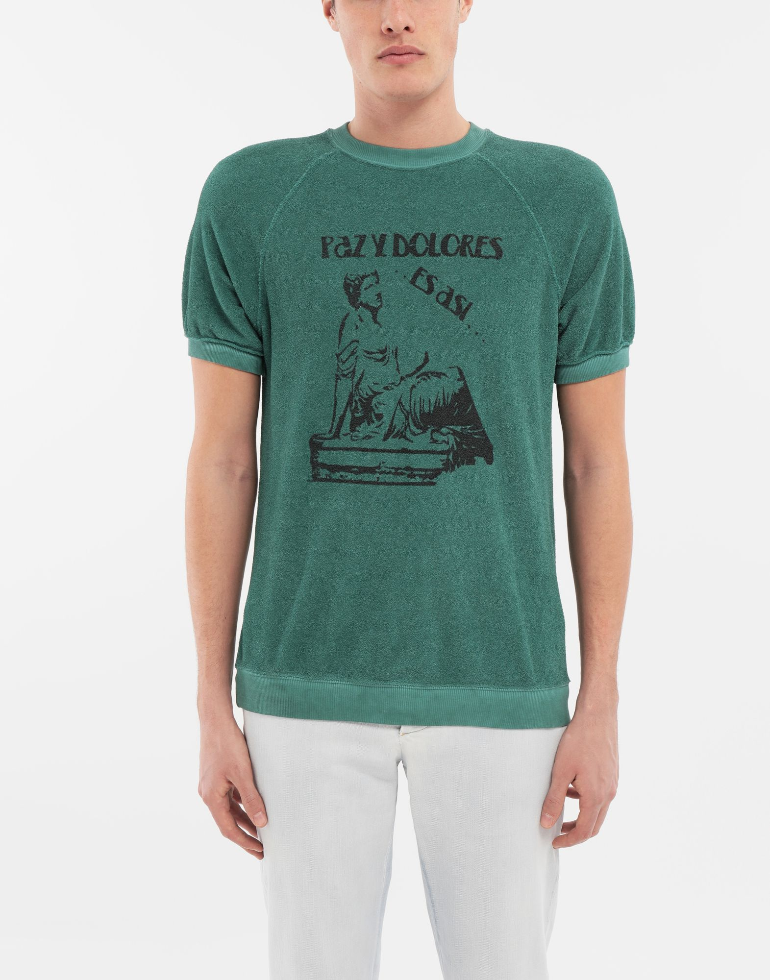 MAISON MARGIELA Graphic printed faded T-shirt Sweatshirt Man r