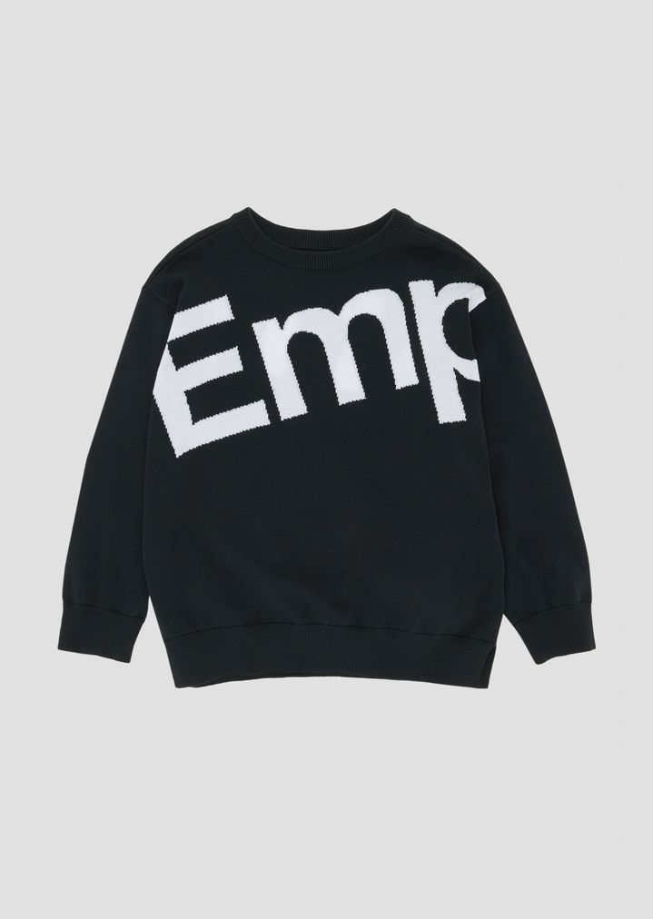 6cec3e6841 Crew-neck sweater with embroidered logo front and back