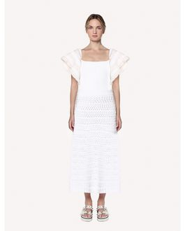 REDValentino Cotton crochet knit top