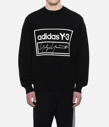 Y-3 Long sleeve jumper Man Y-3 Tech Knit Crew Sweatshirt r