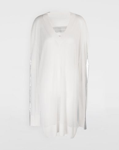 MAISON MARGIELA Knitwear Tape-bonded knit pullover V-neck Woman f