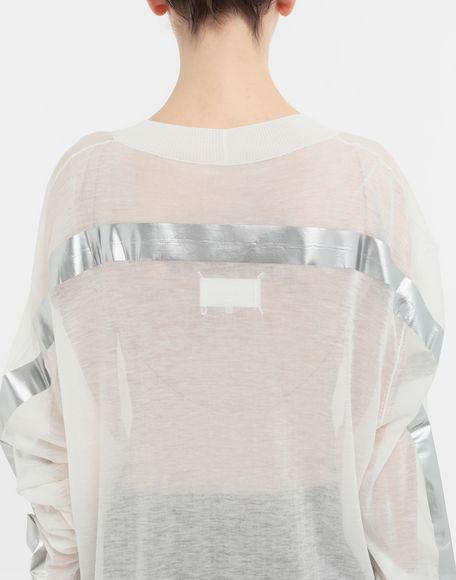 MAISON MARGIELA Knitwear Tape-bonded knit pullover V-neck Woman b