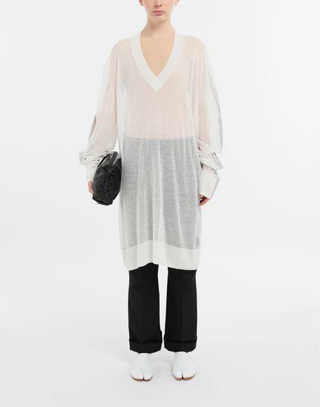 MAISON MARGIELA Knitwear Tape-bonded knit pullover V-neck Woman d