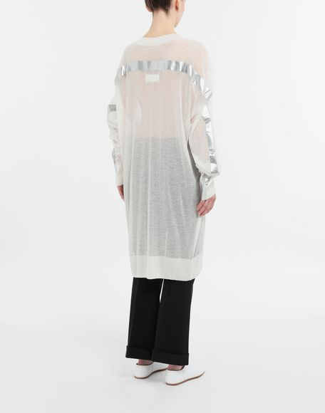MAISON MARGIELA Knitwear Tape-bonded knit pullover V-neck Woman e