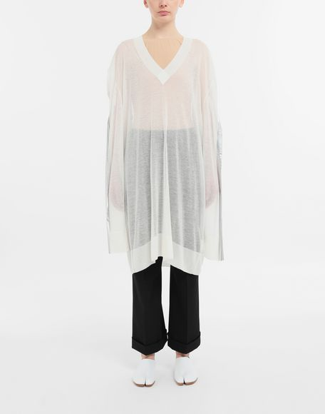 MAISON MARGIELA Knitwear Tape-bonded knit pullover V-neck Woman r