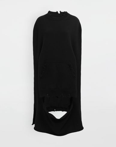 MAISON MARGIELA Stole [*** pickupInStoreShipping_info ***] Décortiqué distressed knit cape f