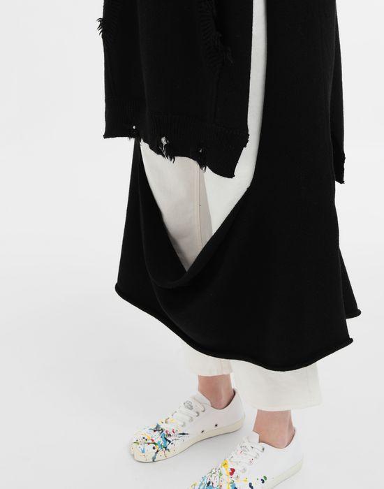 MAISON MARGIELA Décortiqué distressed knit cape ストール [*** pickupInStoreShipping_info ***] a