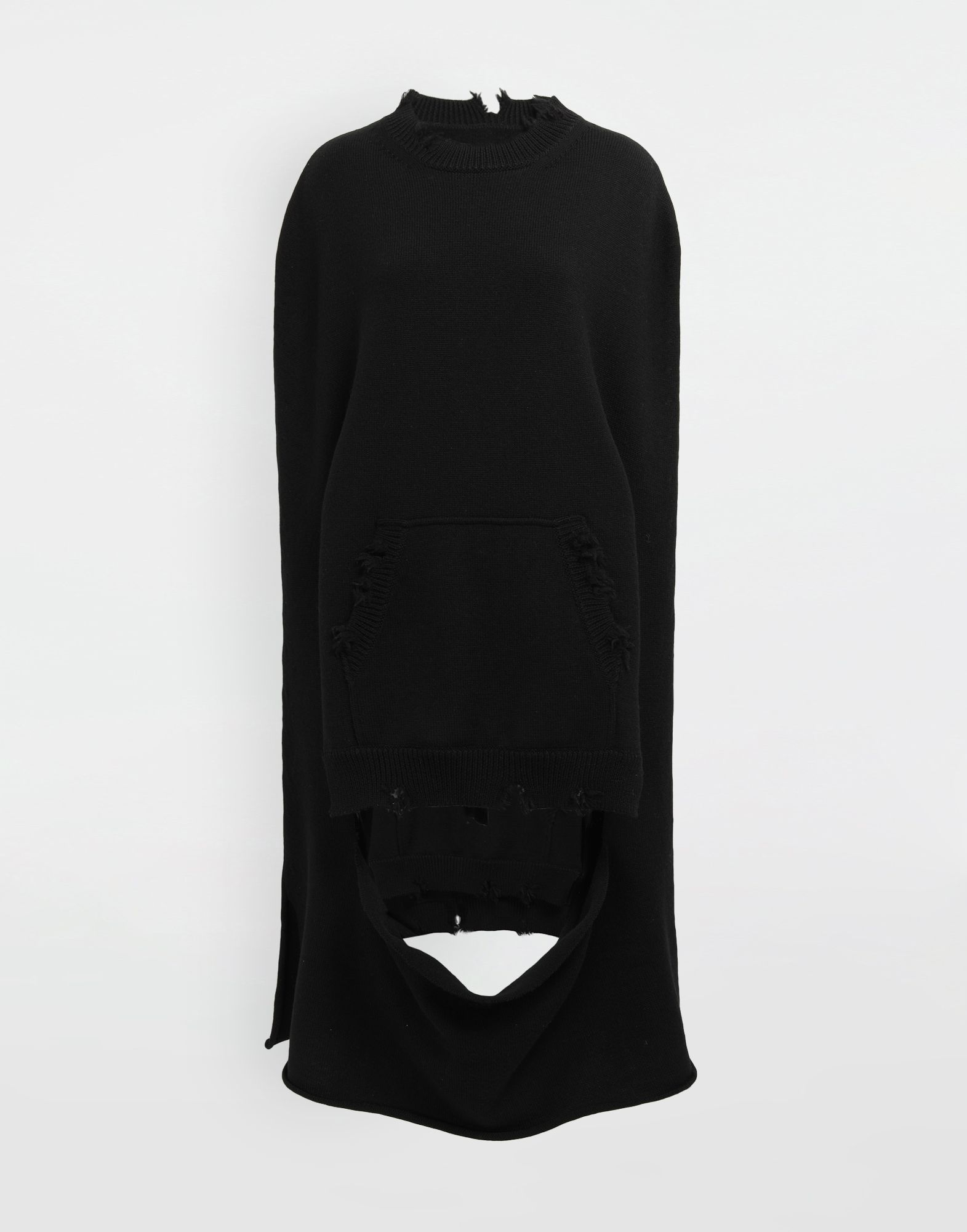 MAISON MARGIELA Décortiqué distressed knit cape Stole Woman f