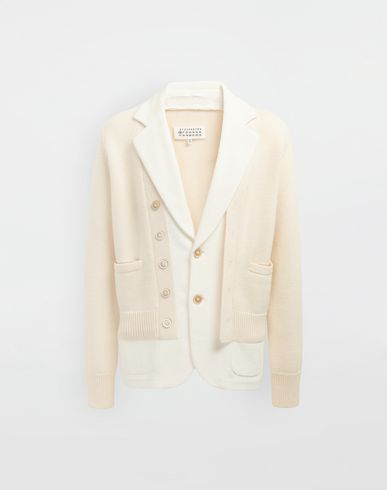 MAISON MARGIELA Spliced knit cardigan jacket Blazer Man f