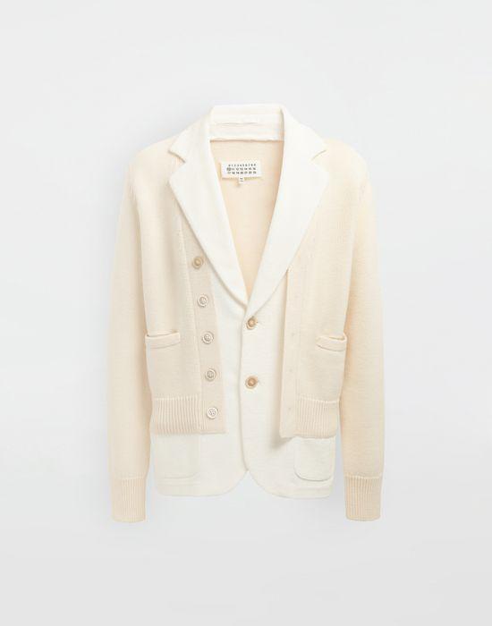 MAISON MARGIELA Spliced knit cardigan jacket Jacket [*** pickupInStoreShippingNotGuaranteed_info ***] f