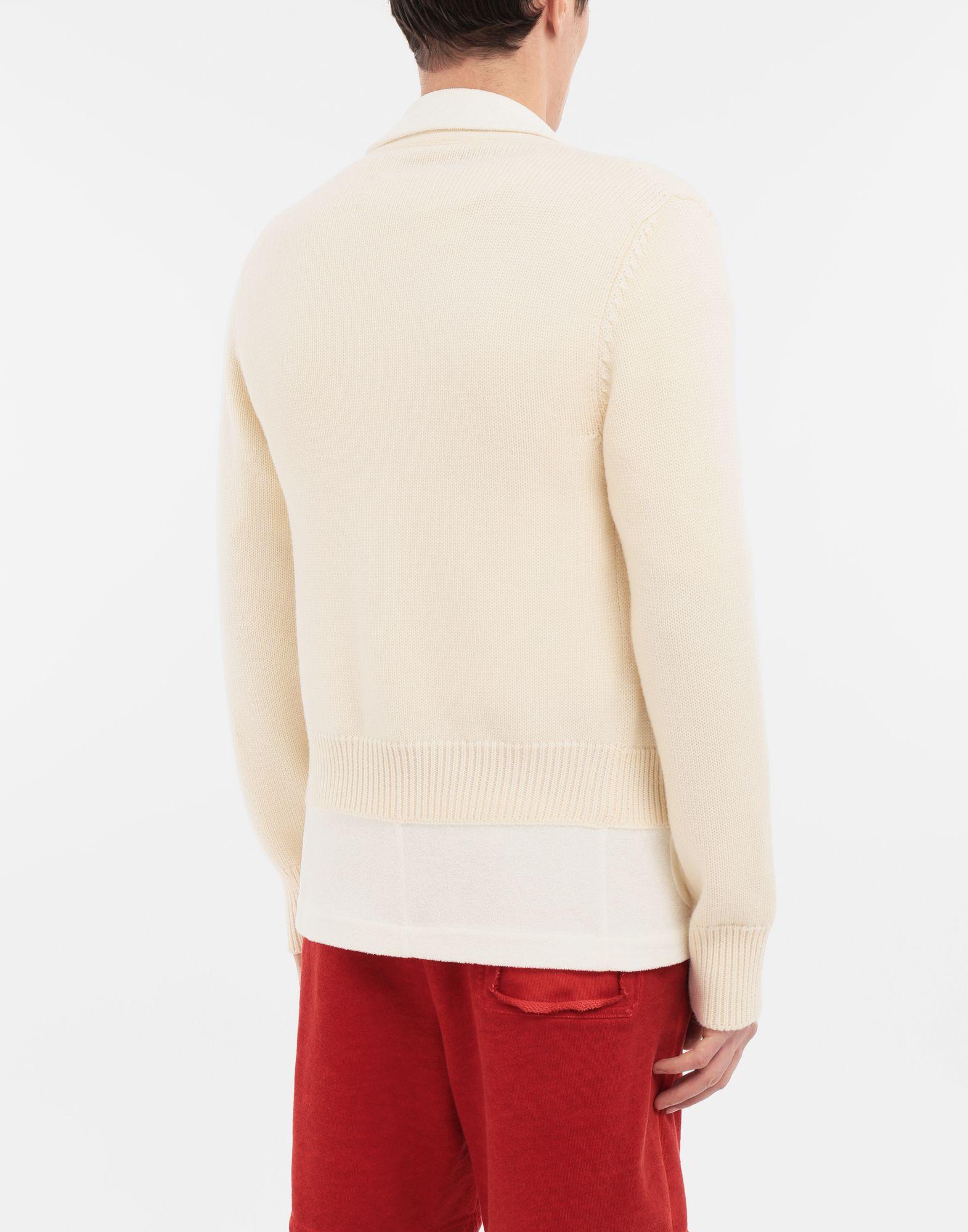 MAISON MARGIELA Spliced knit cardigan jacket Blazer Man e