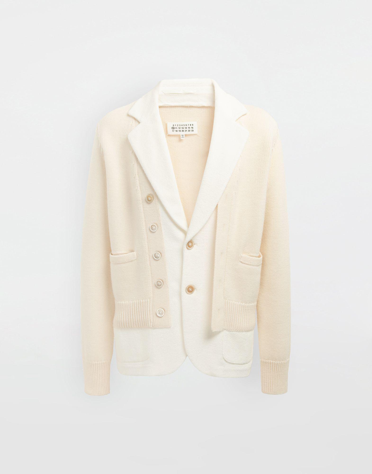 MAISON MARGIELA Spliced knit cardigan jacket Blazer Man f
