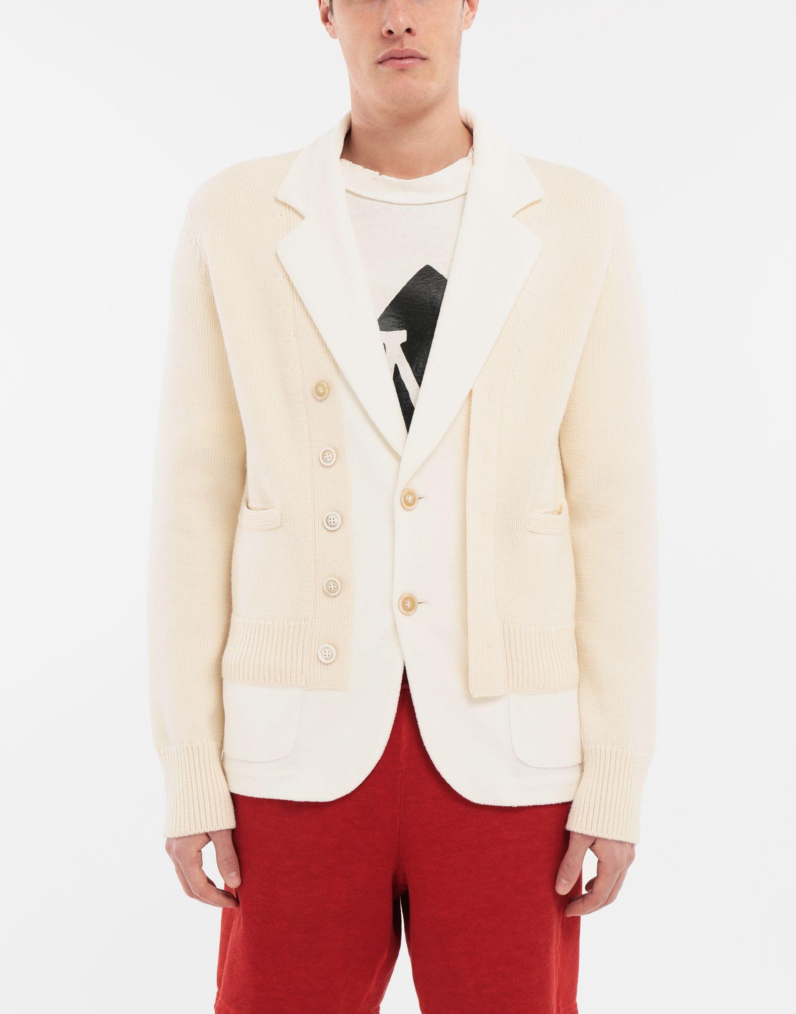 MAISON MARGIELA Spliced knit cardigan jacket Blazer Man r