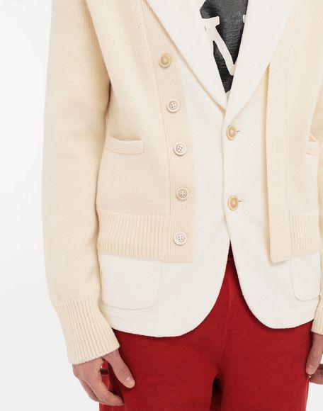 MAISON MARGIELA Spliced knit cardigan jacket Blazer Man a
