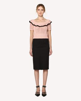 REDValentino Cotton knit top